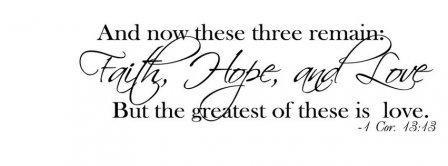 Faith Hope And Love Cor 13 13 Facebook Covers