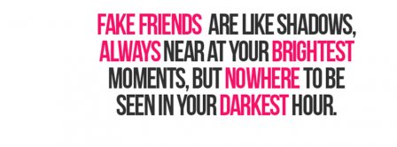 Fake Friends Quote Facebook Covers