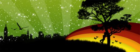 Fake Colorful Nature Scenic  Facebook Covers
