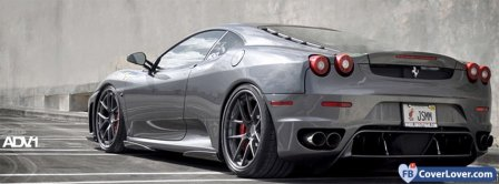 Grey Ferrari Facebook Covers
