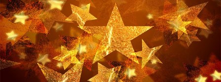Five Pointed Star Christmas Ornaments Facebook Covers