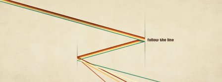 Follow The Line Retro Facebook Covers