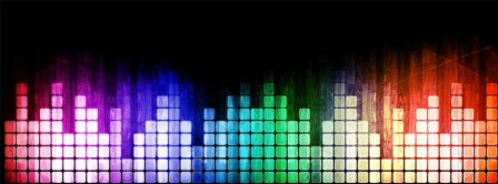 Colorful Music Frequency Blocks Facebook Covers