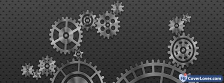 Gear Wheels Background Facebook Covers