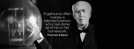Genius Thomas Edison Quote Facebook Covers