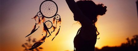 Girl Holding A Dreamcatcher Facebook Covers