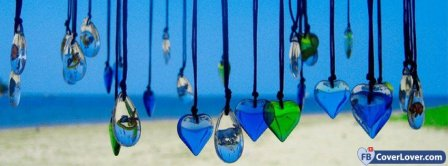 Glass Heart Facebook Covers