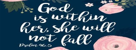 God Is Within Her Facebook Covers