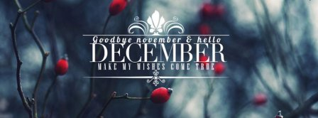 Goodbye November Hello December Facebook Covers