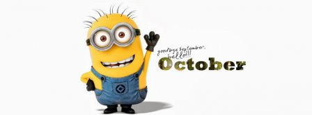 Goodbye September Hello October Minion Facebook Covers