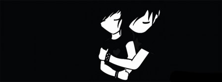 Goth Love Couple Facebook Covers