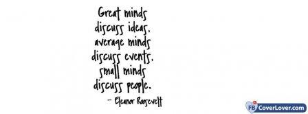 Great Minds Eleanor Rosevelt Facebook Covers