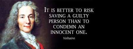 Guilty Innocent Voltaire Quote Facebook Covers
