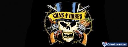 Guns N Roses Skull Logo Facebook Covers