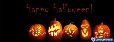 Halloween Pumpkins Faces Facebook Covers