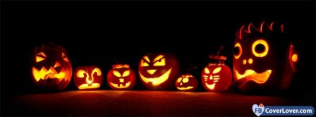 Halloween Carved Pumpkins Facebook Covers