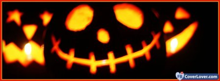 Halloween Big Pumpkin Head  Facebook Covers