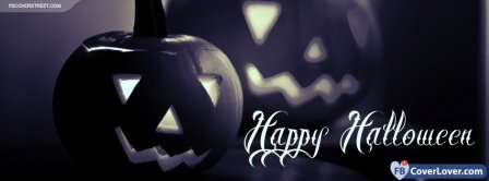 Halloween Black And White Pumpkin Facebook Covers