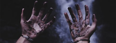 Halloween Burning Hands Facebook Covers