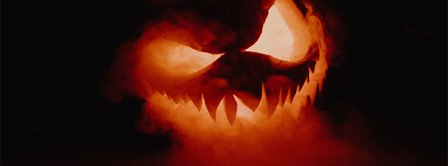 Halloween Burning Pumpkin Facebook Covers