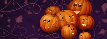 Halloween Cute Pumpkins Facebook Covers