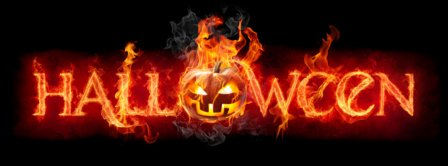 Halloween Pumpkin In Fire Facebook Covers