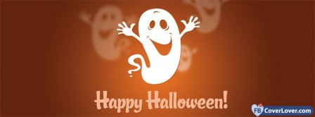 Halloween Funny Ghost 1 Facebook Covers