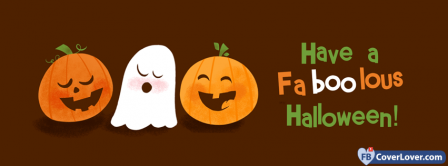 Halloween Funny Ghost 2 Facebook Covers