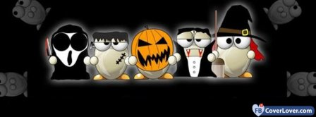 Halloween Funny Ghost 3 Facebook Covers
