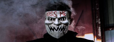 Halloween Kiss Me Mask Facebook Covers