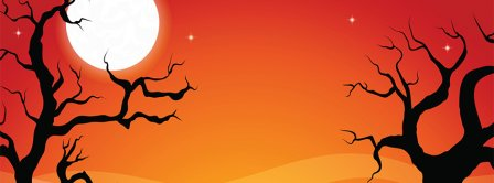 Halloween Moon Facebook Covers