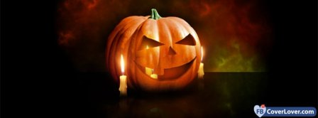 Halloween Pumpkin And Candle Facebook Covers
