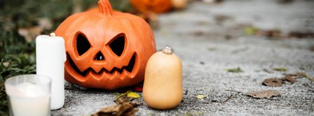 Halloween Pumpkin Candles Facebook Covers