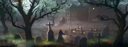 Halloween Scary Cemetery Facebook Covers
