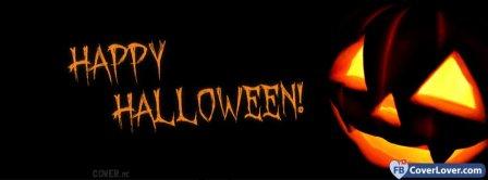 Halloween Scary Pumpkin Facebook Covers