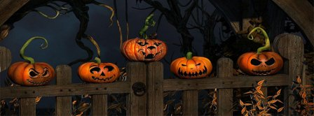 Halloween Scary Pumpkins Facebook Covers