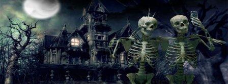 Halloween Funny Skeletons Selfie Facebook Covers
