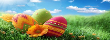 Happy Easter Chocolate Eggs Facebook Covers