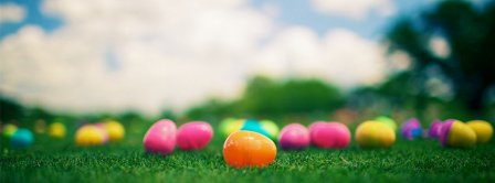 Happy Easter Eggs Hunt Facebook Covers