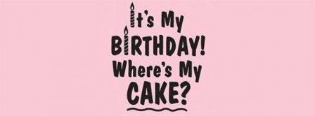 Happy Birthday Where Is My Cake Facebook Covers