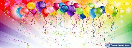 Happy Birthday Balloons Facebook Covers