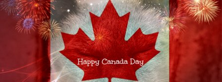 Happy Canada Day Fireworks  Facebook Covers
