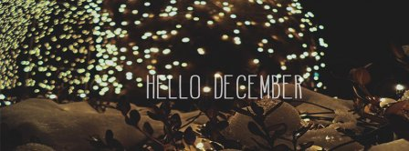 Happy December Lights Facebook Covers