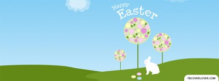 Happy Easter Eggs Trees Facebook Covers