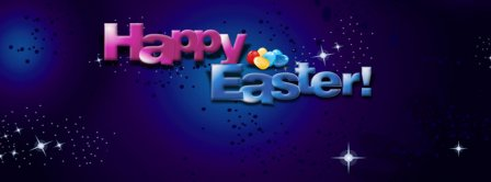 Happy Easter Stars Background Facebook Covers