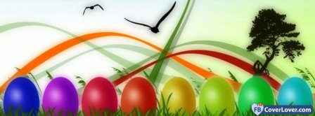 Happy Easters 3 Facebook Covers