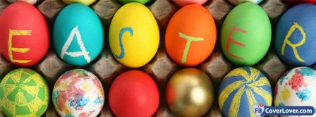 Painted Easter Eggs Facebook Covers