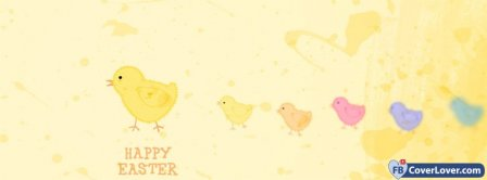 Happy Easters Chickens 2 Facebook Covers
