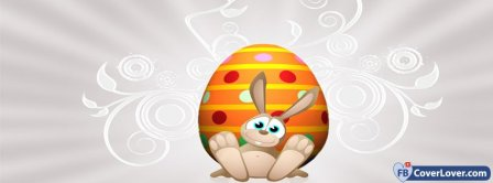 Happy Easters Funny Bunny Facebook Covers