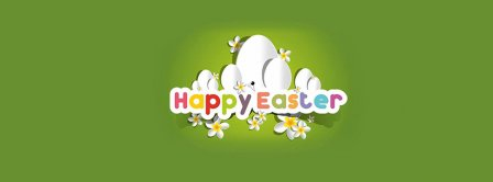 Happy Easters Green Background Facebook Covers